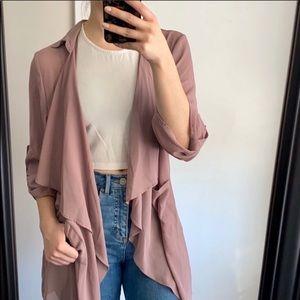 Fashion Nova Dusty Rose Duster Jacket
